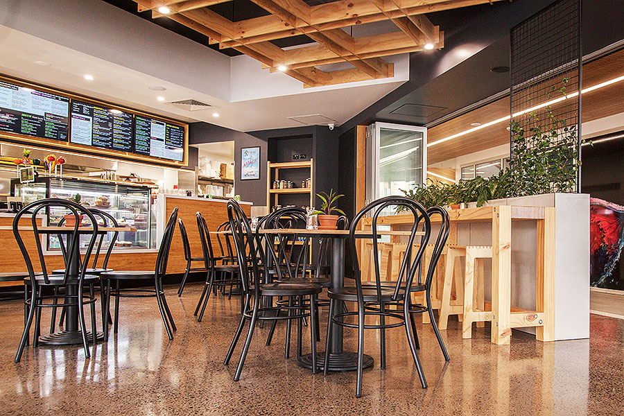 Raw Energy Birtinya – Fresh Healthy Café Fit Out Design