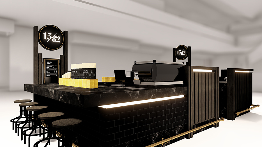 1582 Specialty Coffee Kiosk – Franchise Concept Design