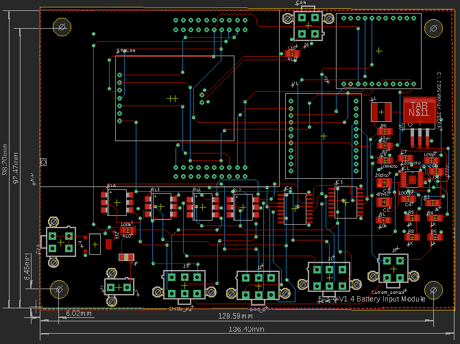 CAD of our in-house designed LPS Board
