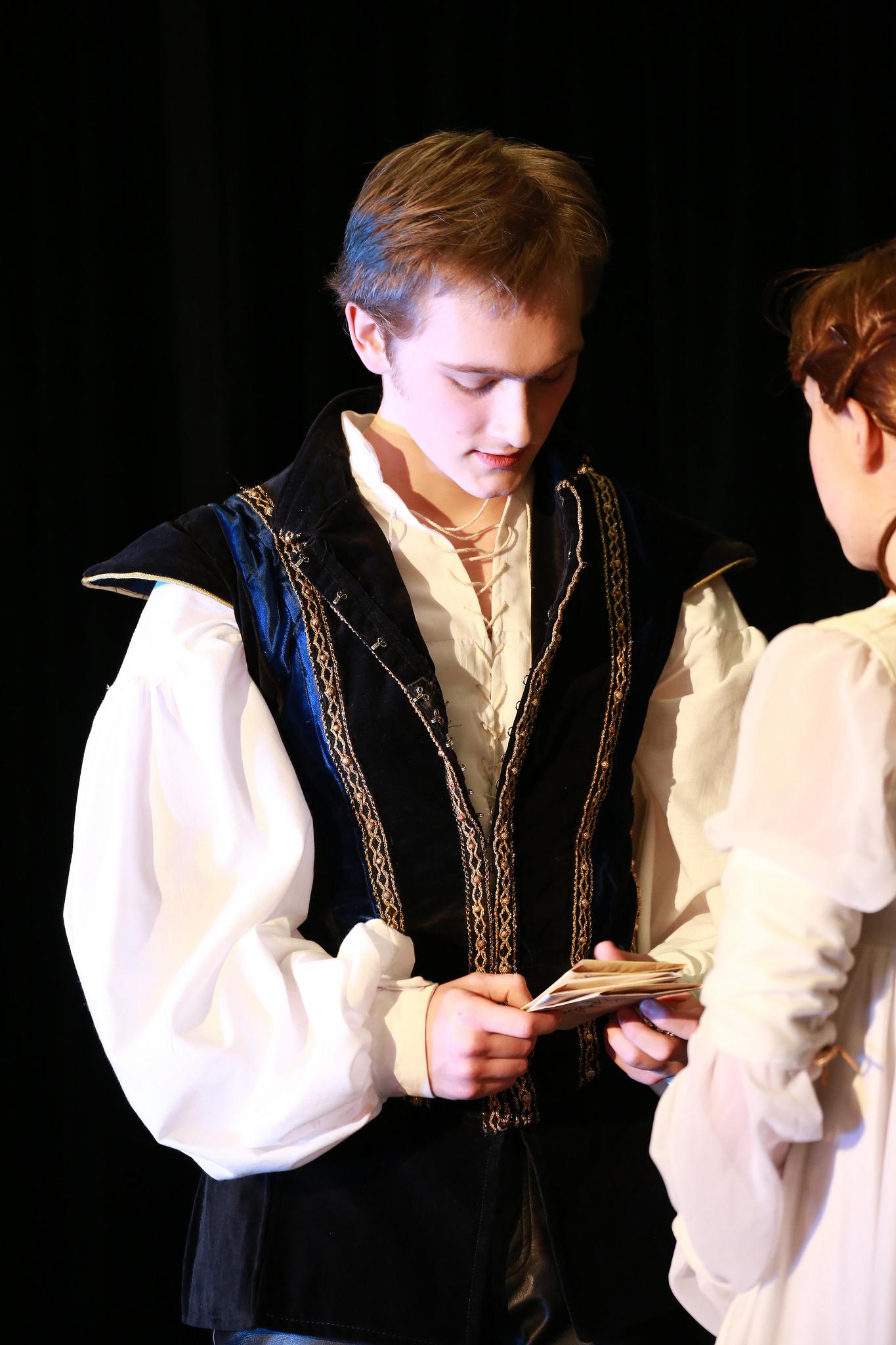 Joshua vanGeldern as Hamlet
