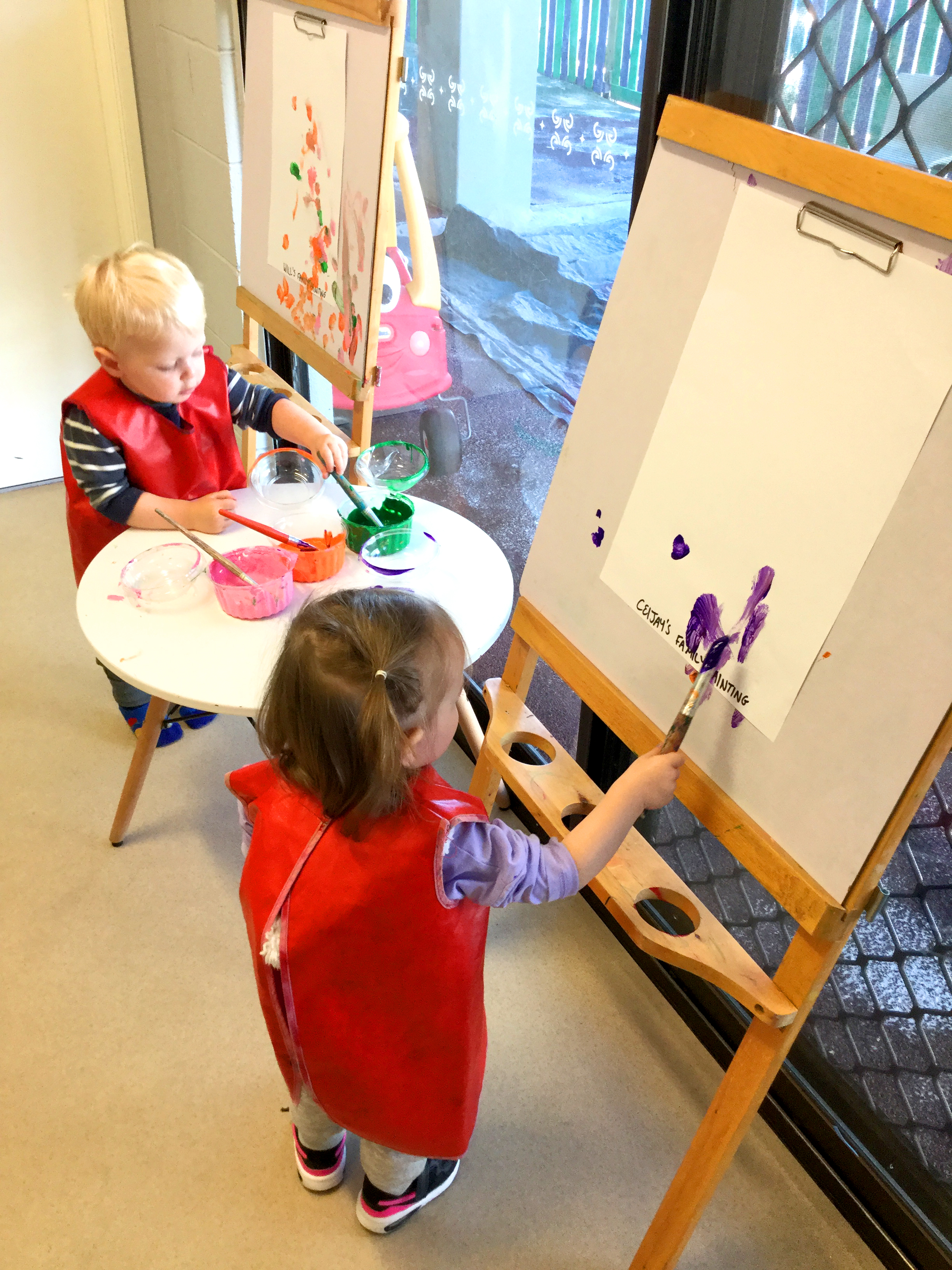 Toddler Art Experience at day care