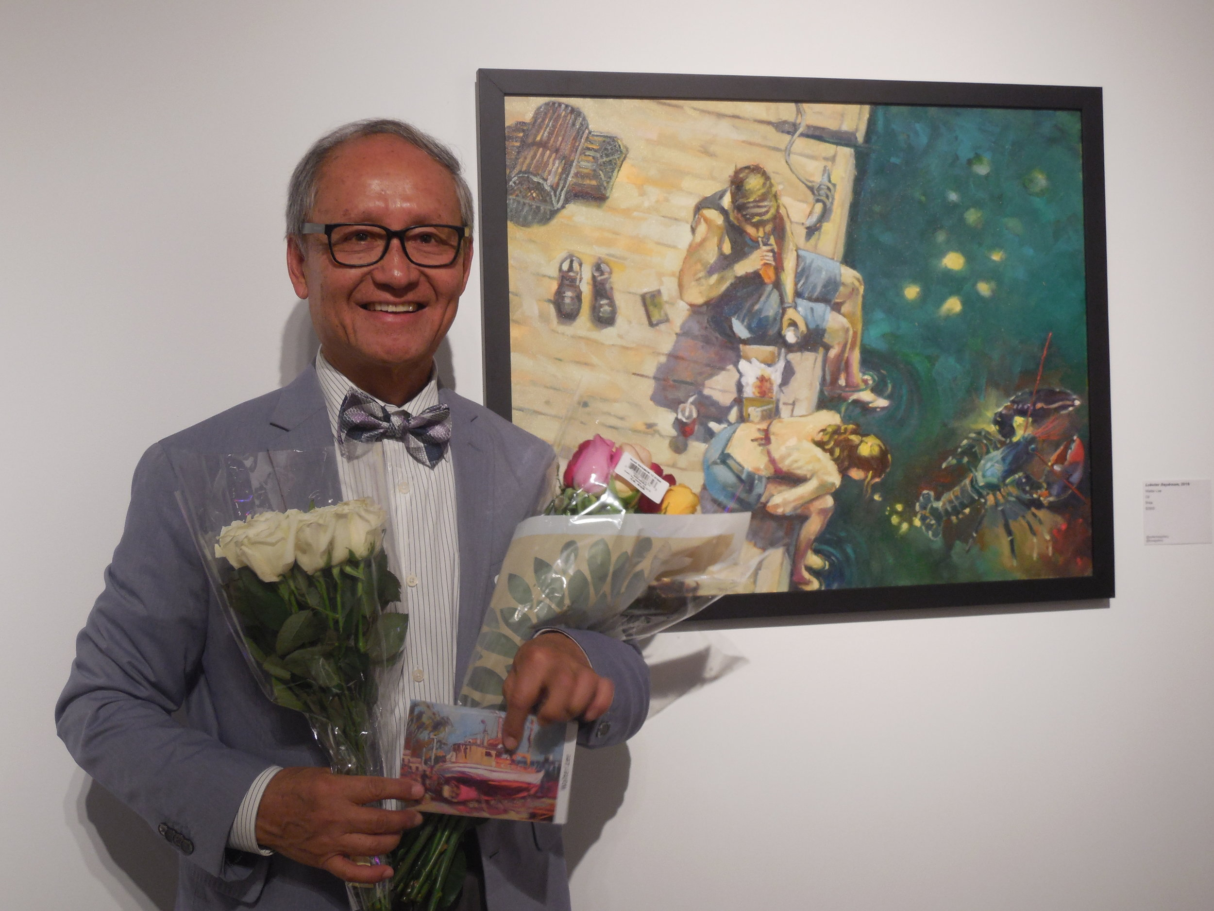 Walter at the Brea Gallery opening reception on May 4, 2019