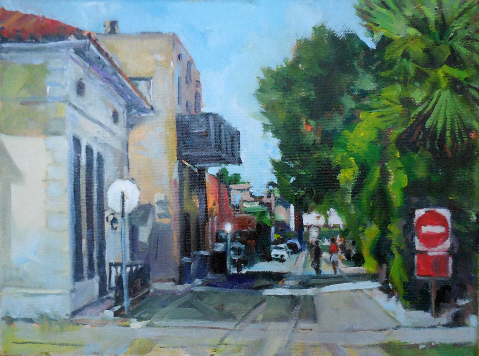 Alley Behind Sunkist Building, Oil, 9x12, $600