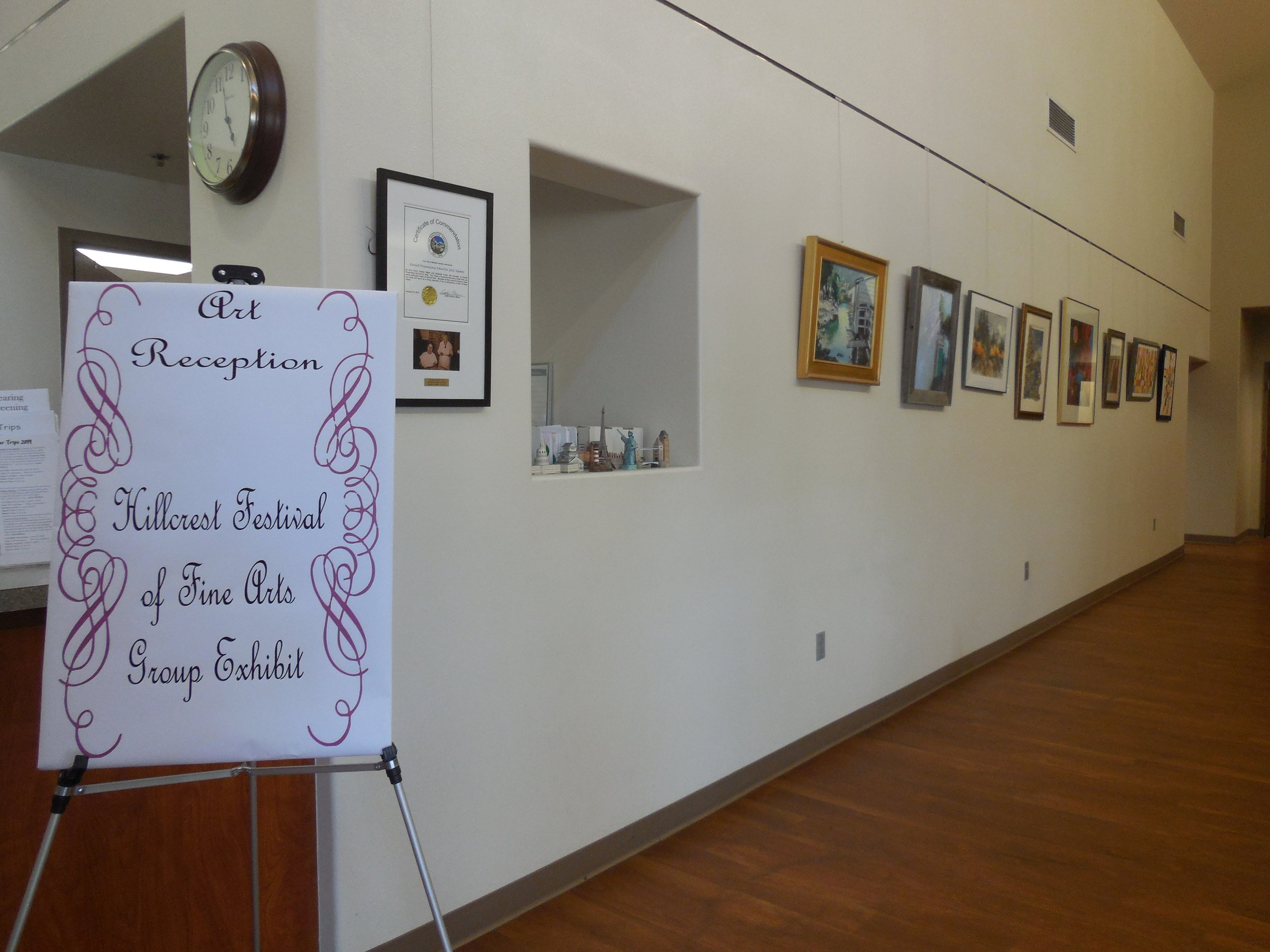 Hillcrest Group Exhibit was showcased at the Parnell Park Community Center in City of Whittier.