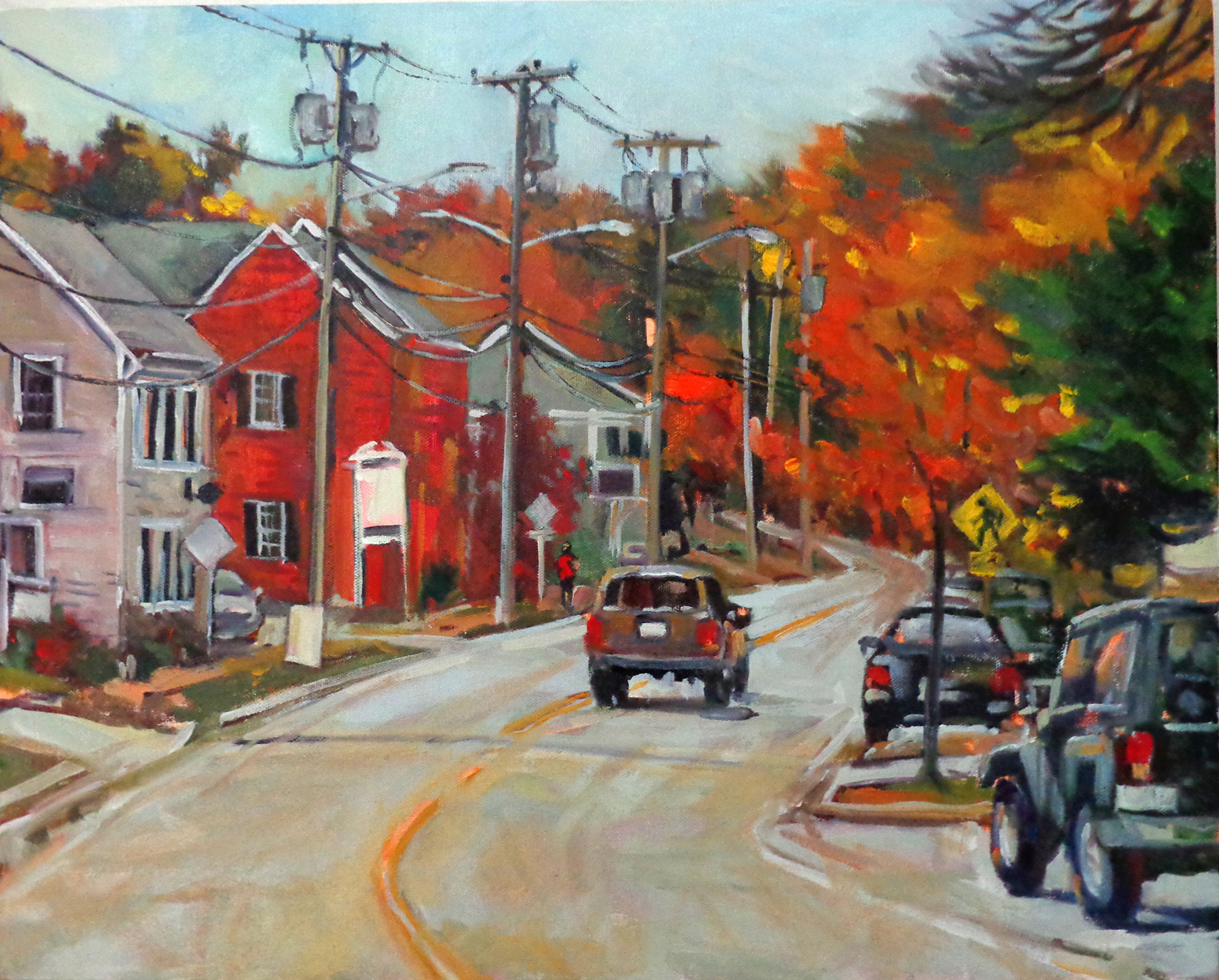 Walter Lee, Autumnal Drive, Oil, 16x20, 2019