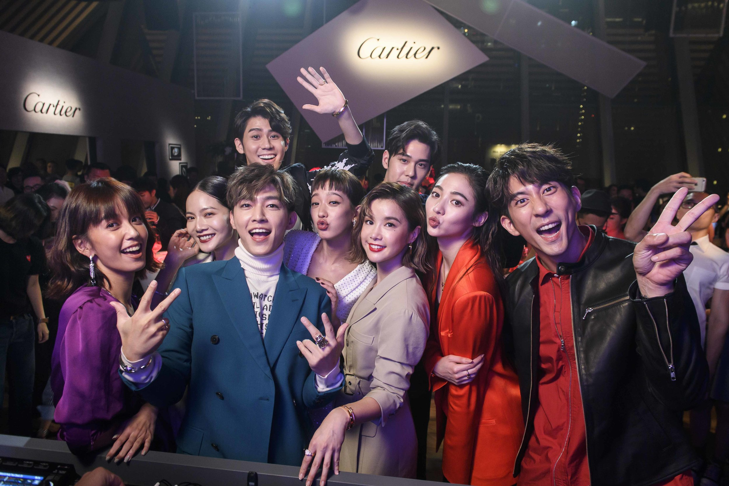 2018 卡地亞Panthère de Cartier美洲豹時尚派對 出席藝名人合影.JPG