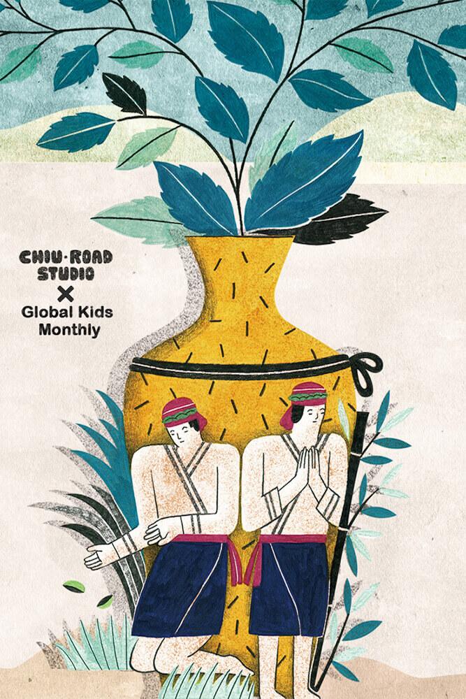 作品《西拉雅夜祭》,每年农历9月台南西拉雅族的夜间祭祀。祭拜水里的祖灵,因水没有形体,因此需以壶来乘载。
