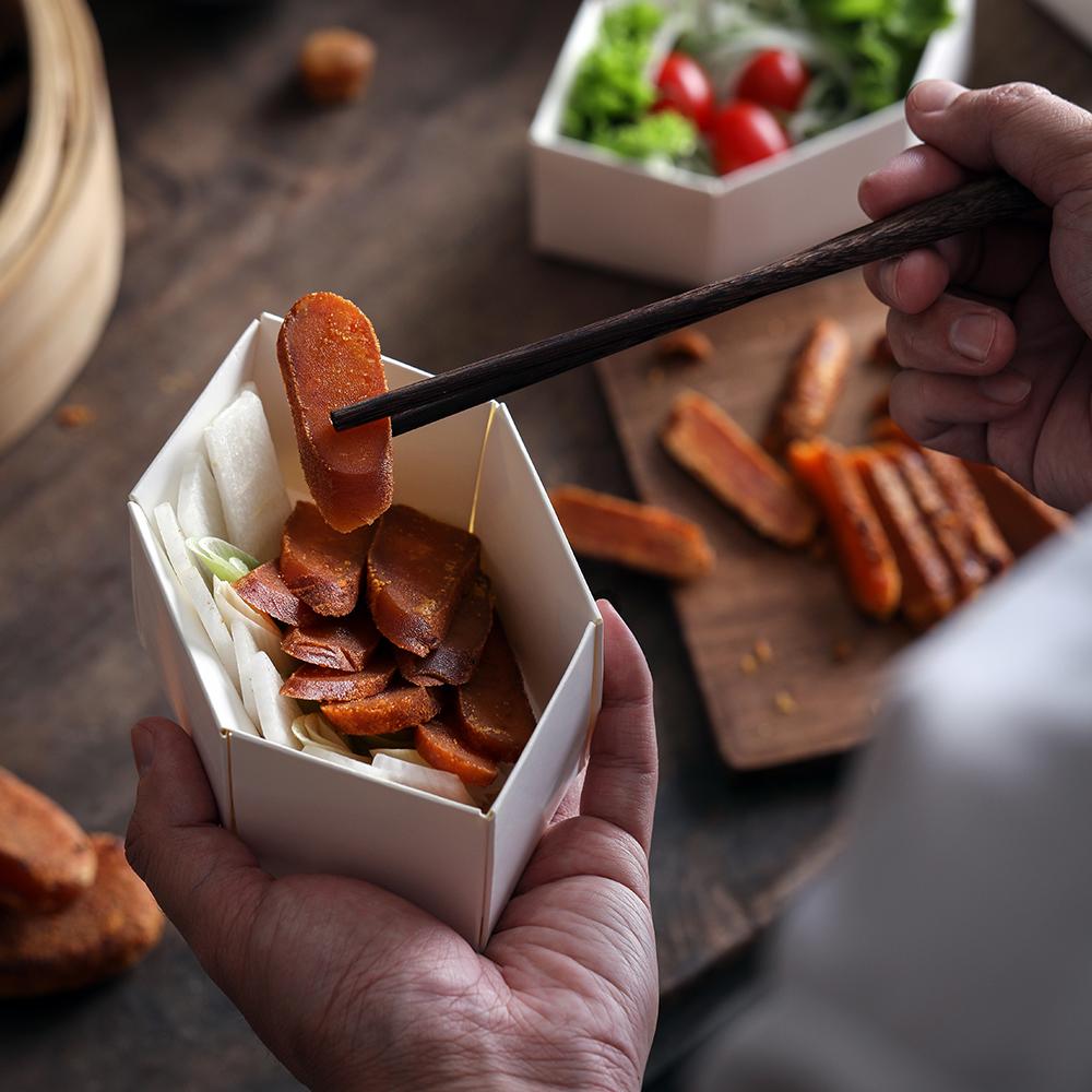 小盒分食的设计,让视觉精致小巧。