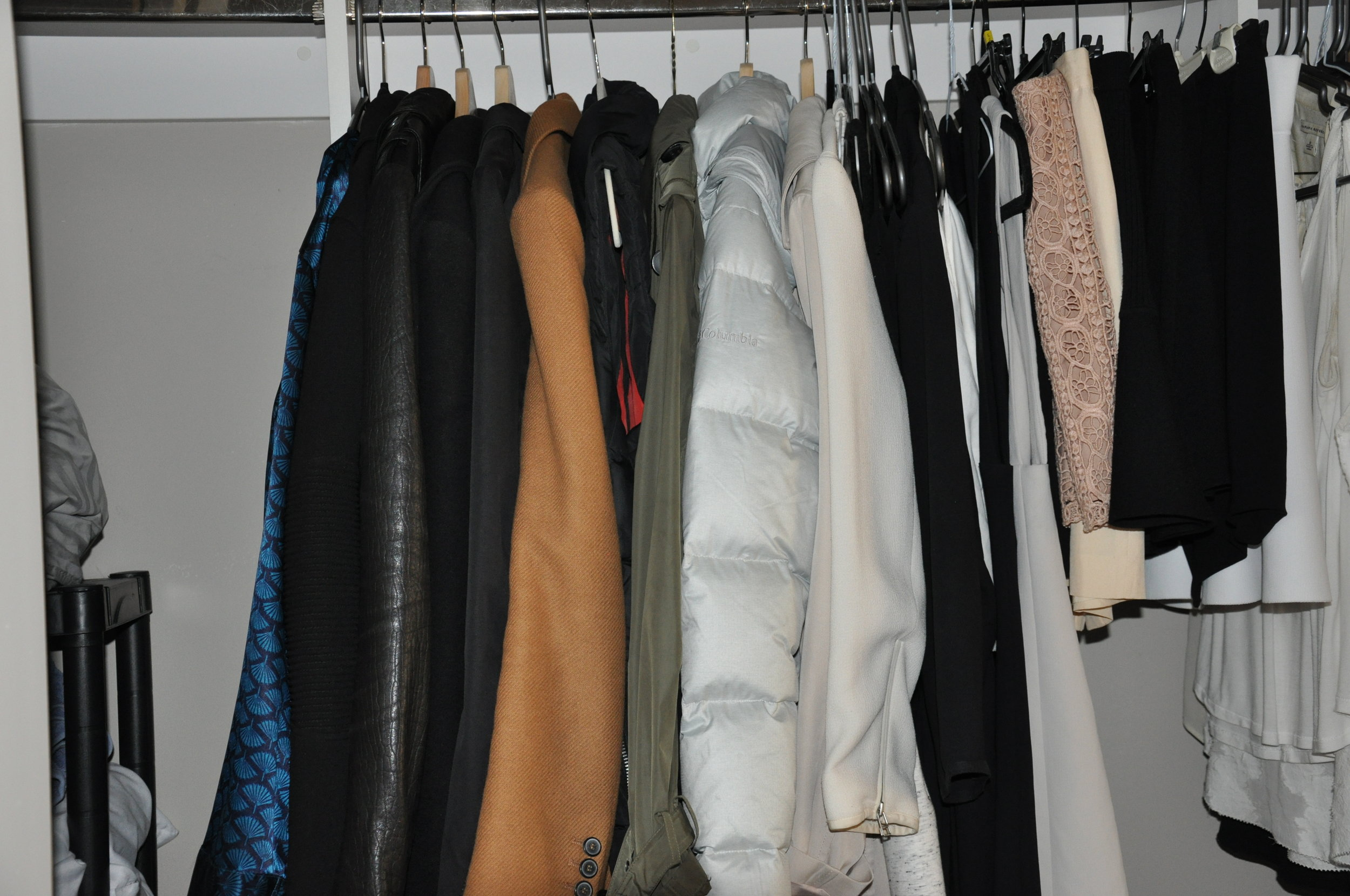These are some of my puffy winter coats!