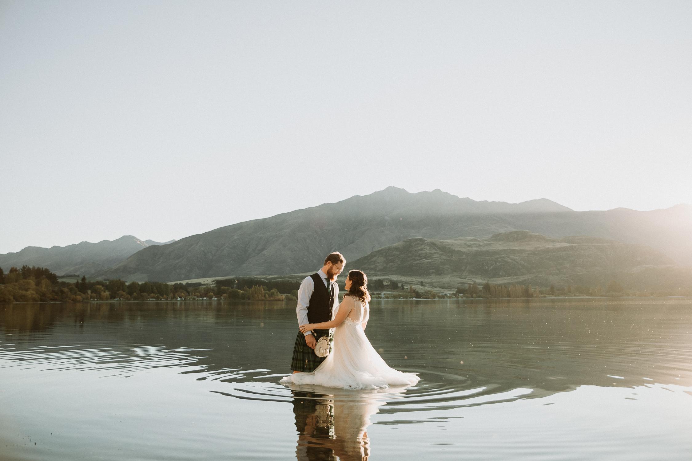 Ashley + Hamish - Intimate Wedding // Glendhu Bay, Wanaka