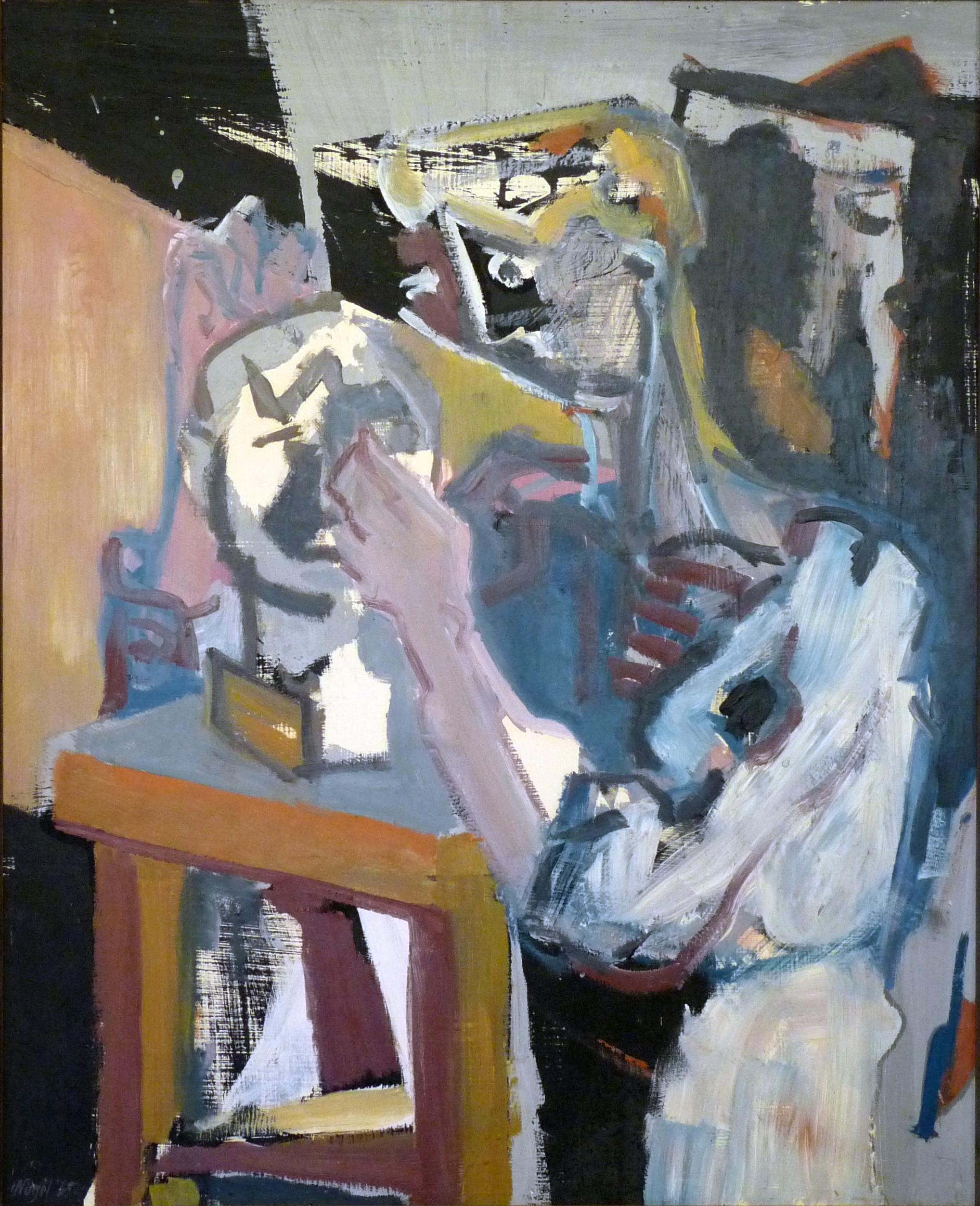 Bildhauerin, 64x87 cm