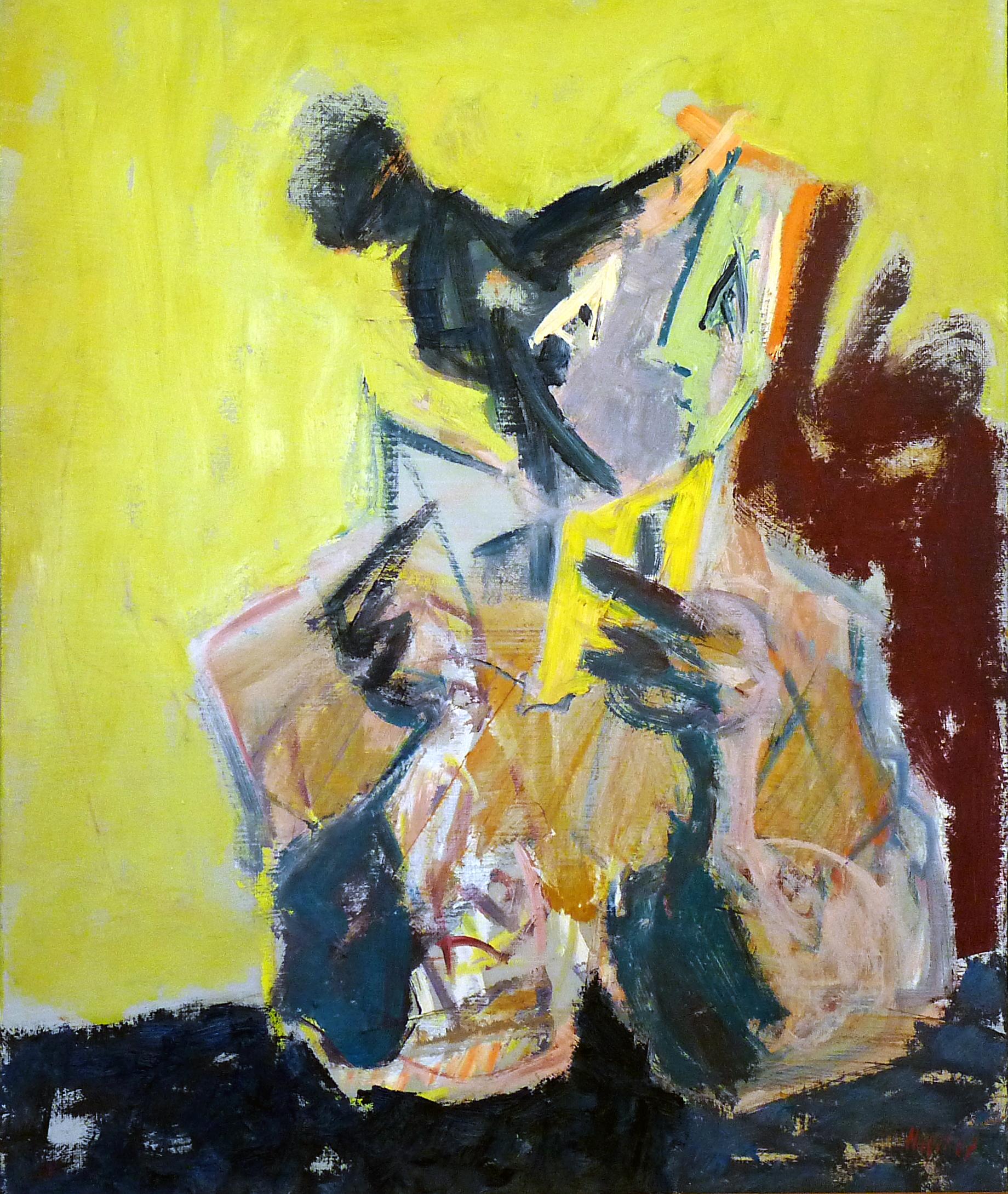 Lesende mit gelbem Buch, 66x82 cm