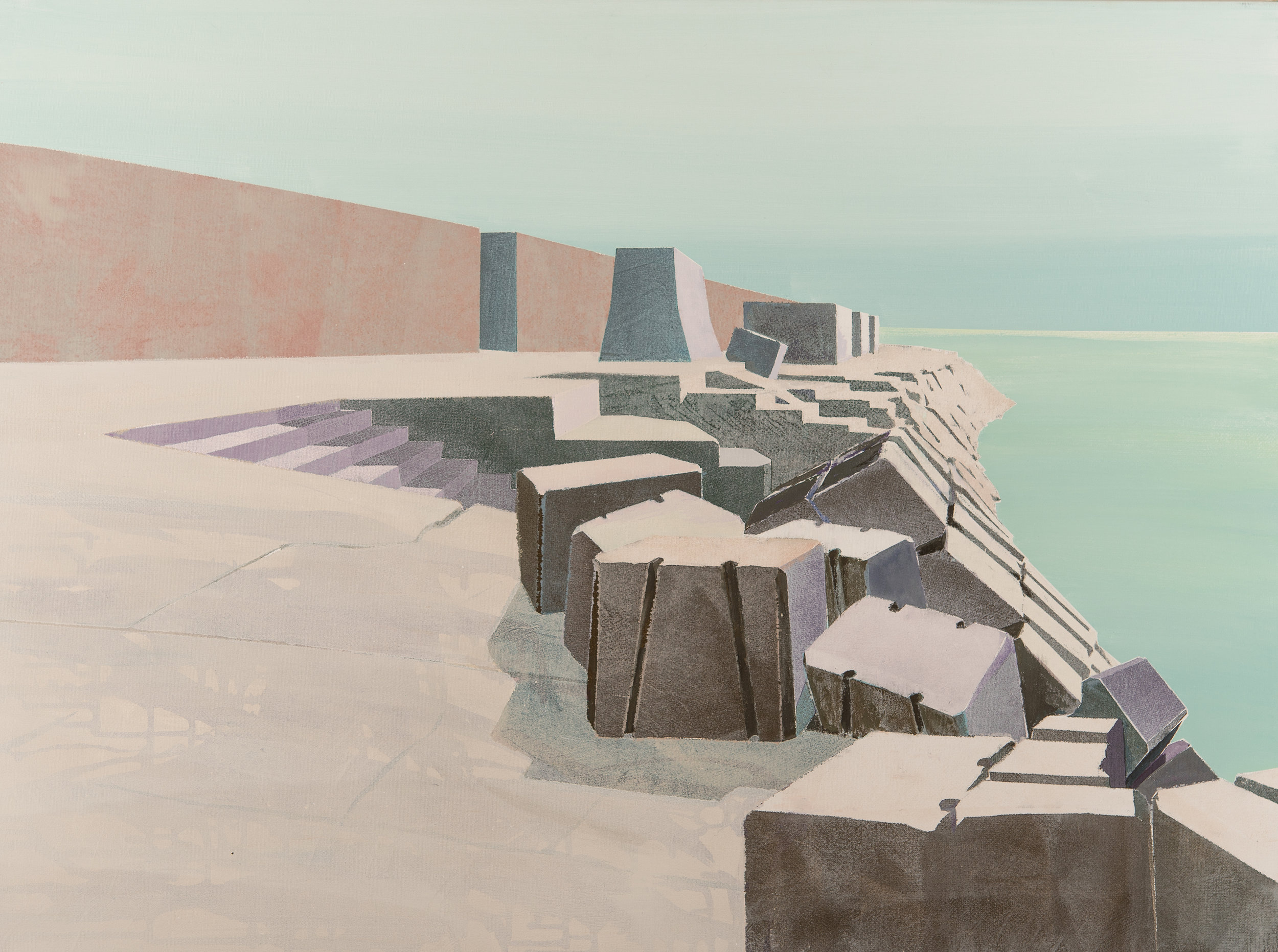 Diga/Genova, Acryl 120 x 80 cm
