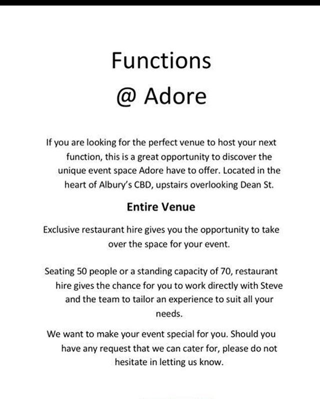 Functions @ Adore !!