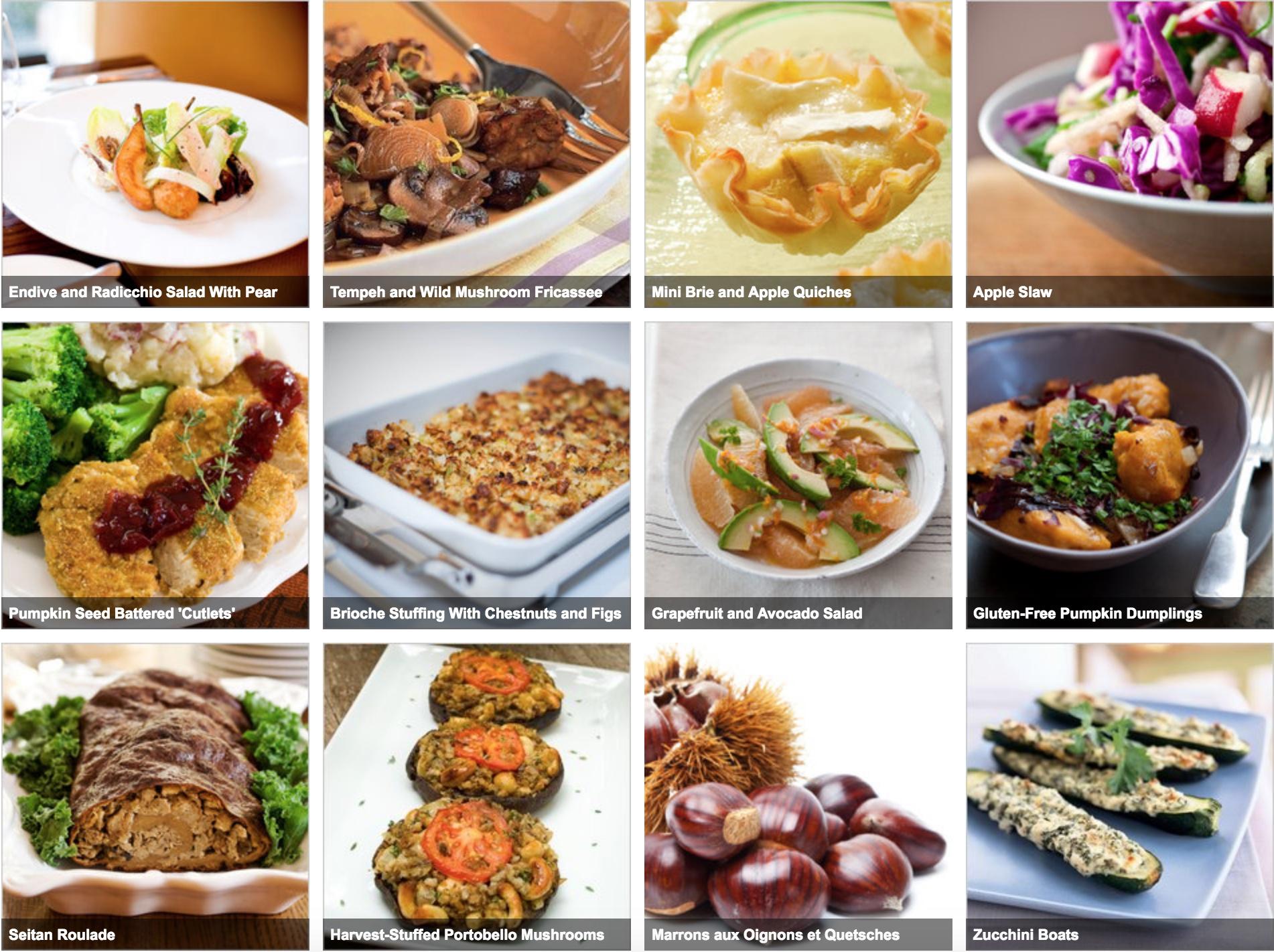 Vegitarian Thanksgiving recipes from NYTimes
