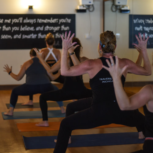 Power Vinyasa Yoga - It is a yoga practice which links breath and continual movement through a heat building sequence of postures. This practice combines a dynamic flow, static holds, inversions, core conditioning with rhythmic breathing (Ujayi Pranayama) for an intense, transformational body-mind workout.