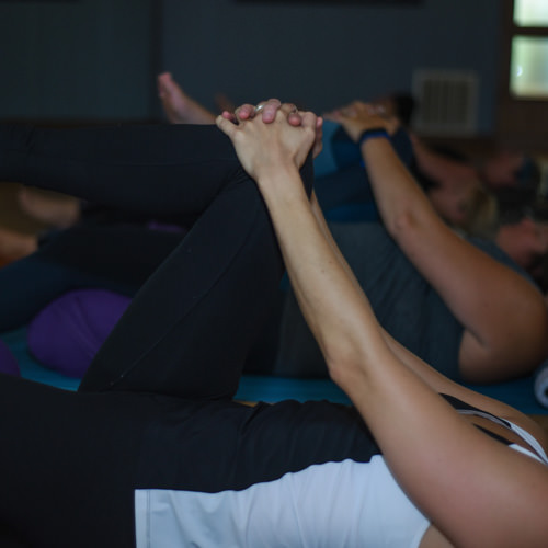 Gentle Yoga - We mix up styles and move from floor to standing positions using props, blocks and blankets to assist us into and out of the poses. All levels of fitness are welcome.