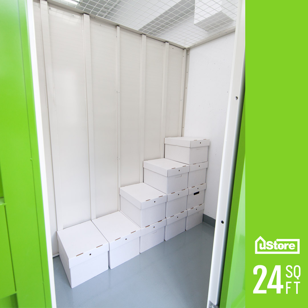 24 sq. ft. storage unit (Height: 7ft.)