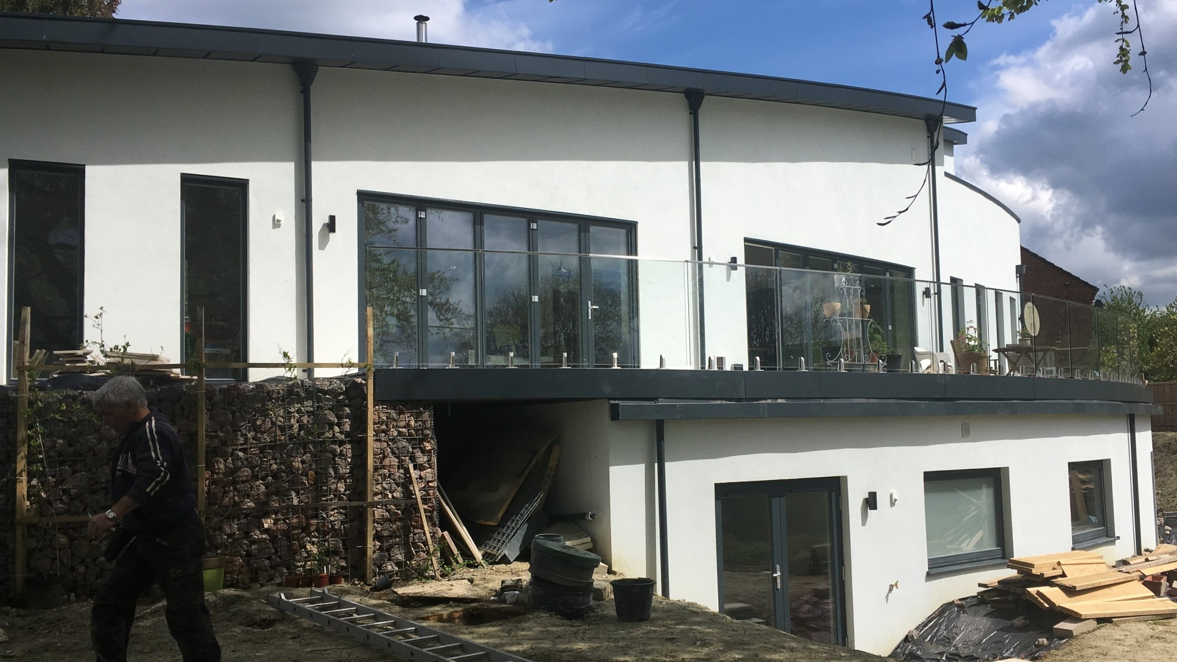 ICF Construction - Custom House, with basement and curved walls