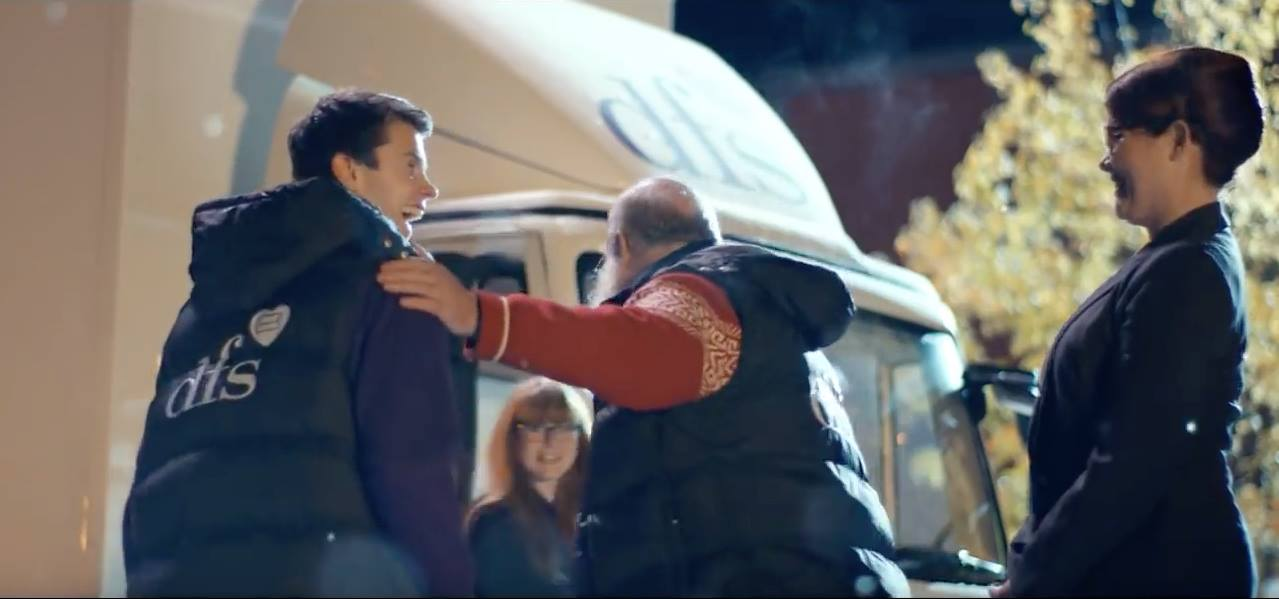 Screenshot from DFS UK Christmas Commercial Campaign (2015)