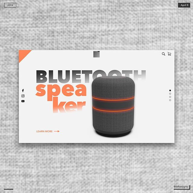 Bluetooth Speaker 🔊 . 3D model created by: @ibfdesigns  UI designed by: @ibfdesigns . Rate 1-10 😊 . #design #designer #3d #3ddesign #3ddesigner #3dmodeling #3drendering #3danimation #rendering #graphic #graphicdesign #graphicdesigner #uxdesign #ux #uxui #uxuidesign #solidworks #keyshot #keyshot3d #makingcreativitypossible #bluetoothspeaker #uidesign #theuiuxcollective #tribeui