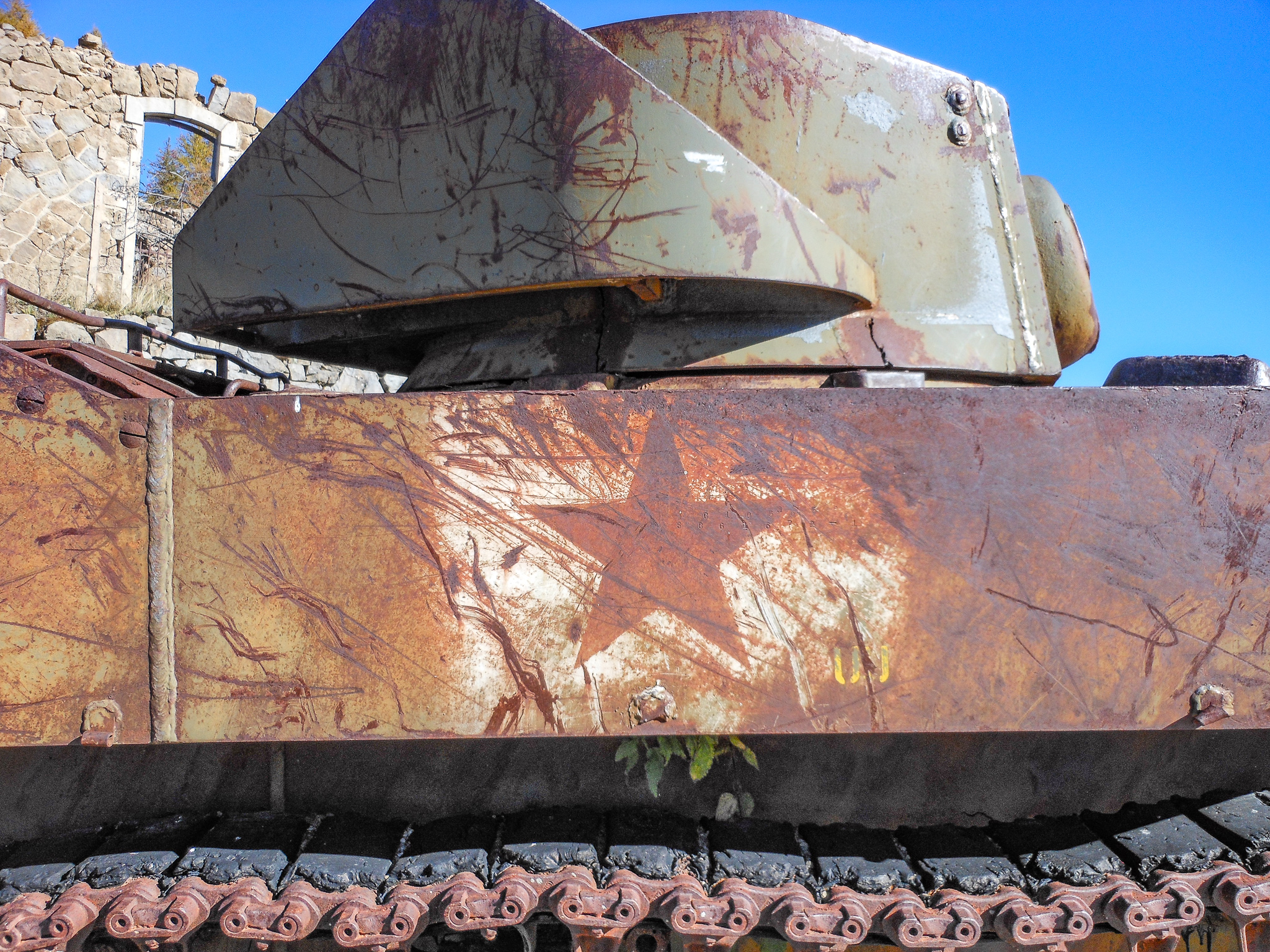 A Stewart tank at the Massif de l'Authion.