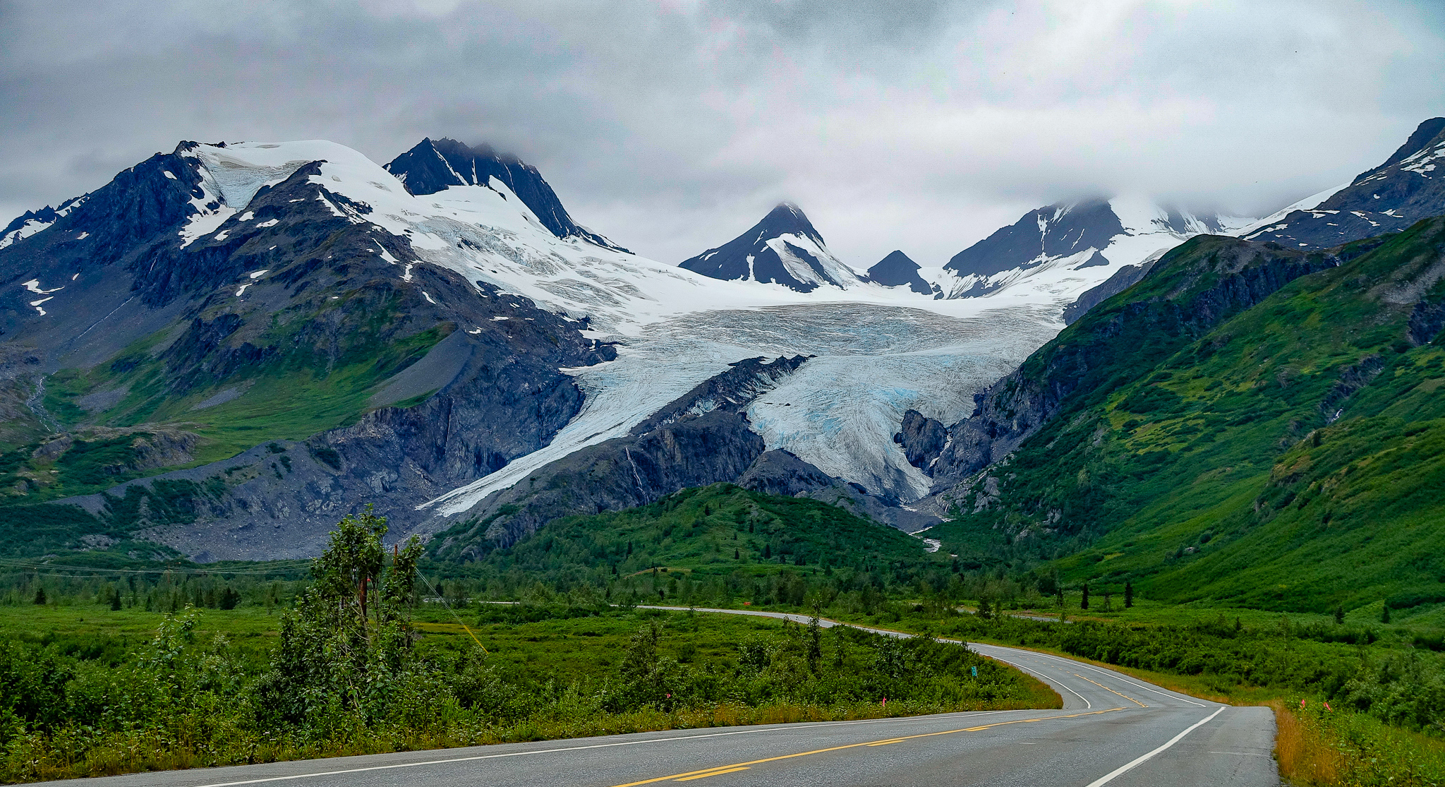 Retreating glacier.