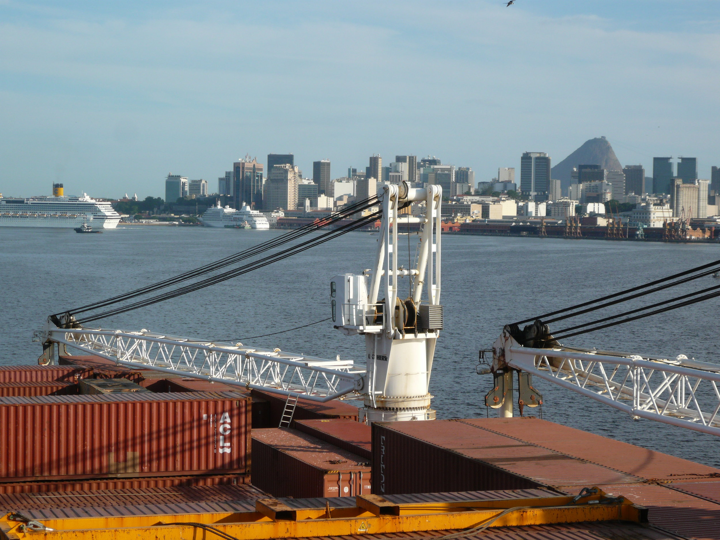 Rio de Janeiro, one of the port calls en route to Argentina.