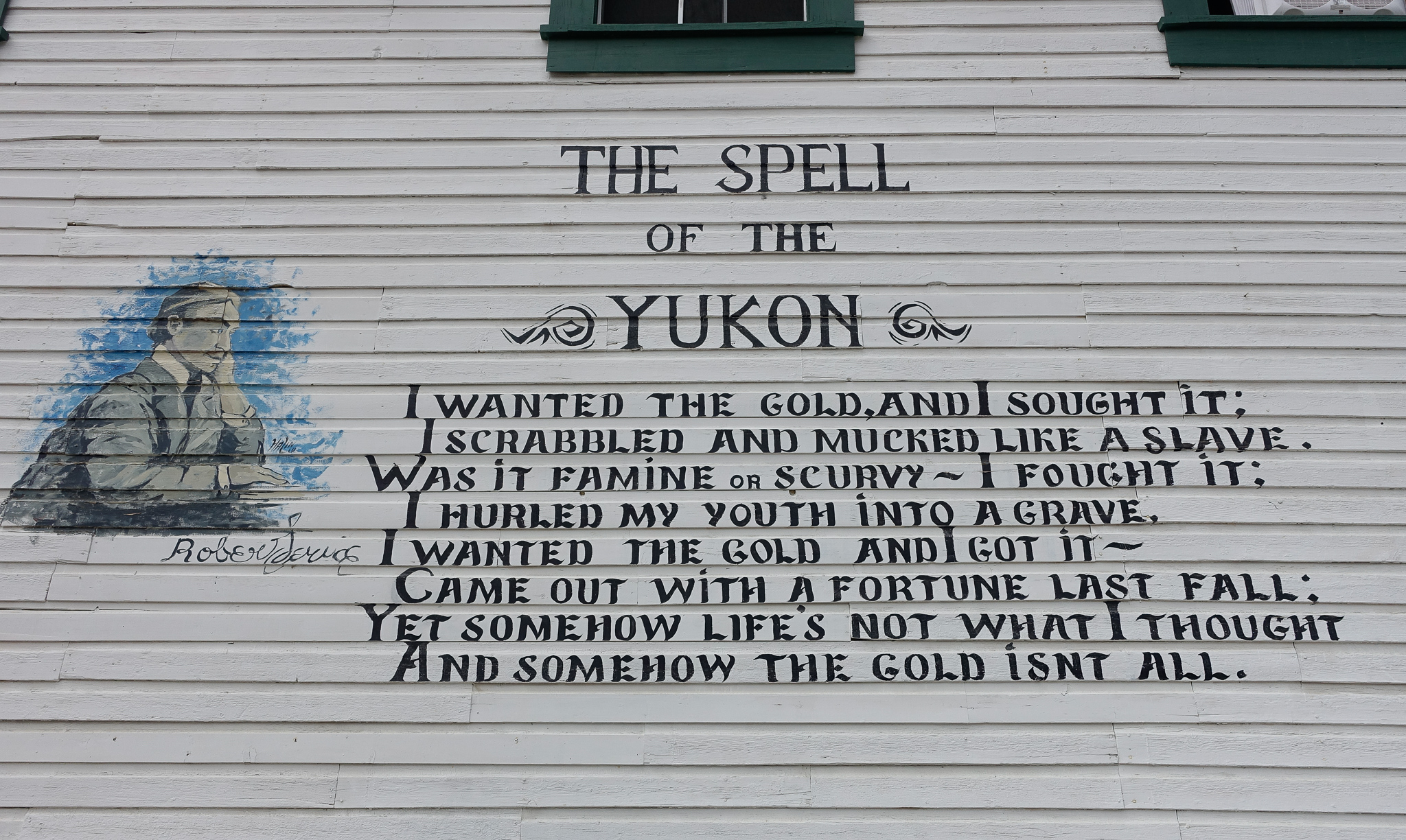 """A POEM BY THE """"BARD OF THE YUKON"""", ROBERT SERVICE."""