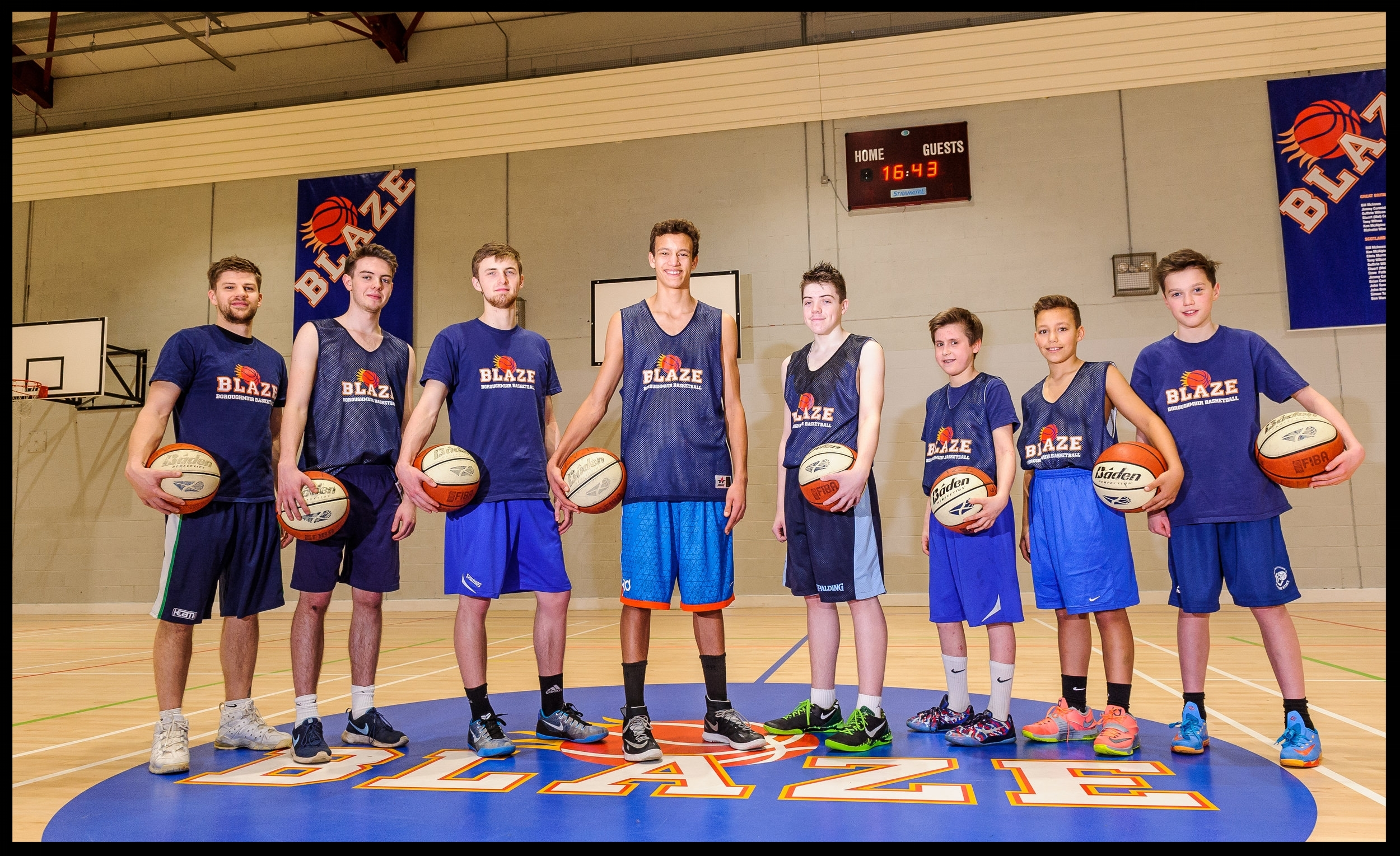 BLAZE MALE SQUADS - U12 Boys, U14 Boys, U16 Men, U18 Men and Senior Men Squad for the 2018/19 Season