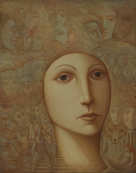 Saga - Oils on canvas - 43 x 34 ins