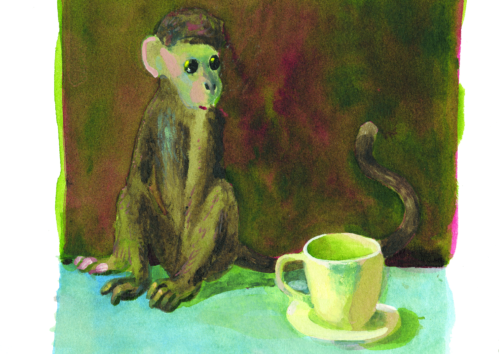 Charles Williams - Monkey and Teacup.jpg