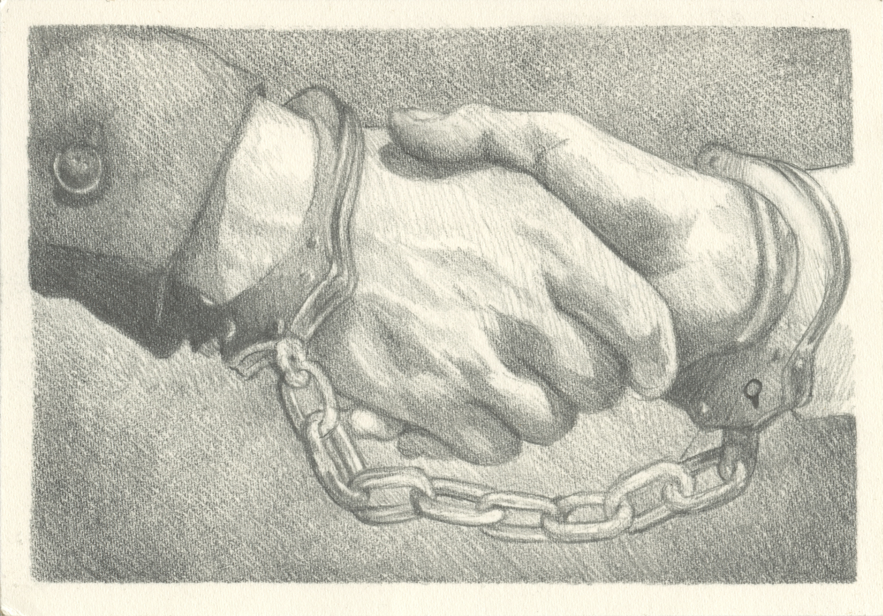 Lot 599 State Deal - Pencil on Paper