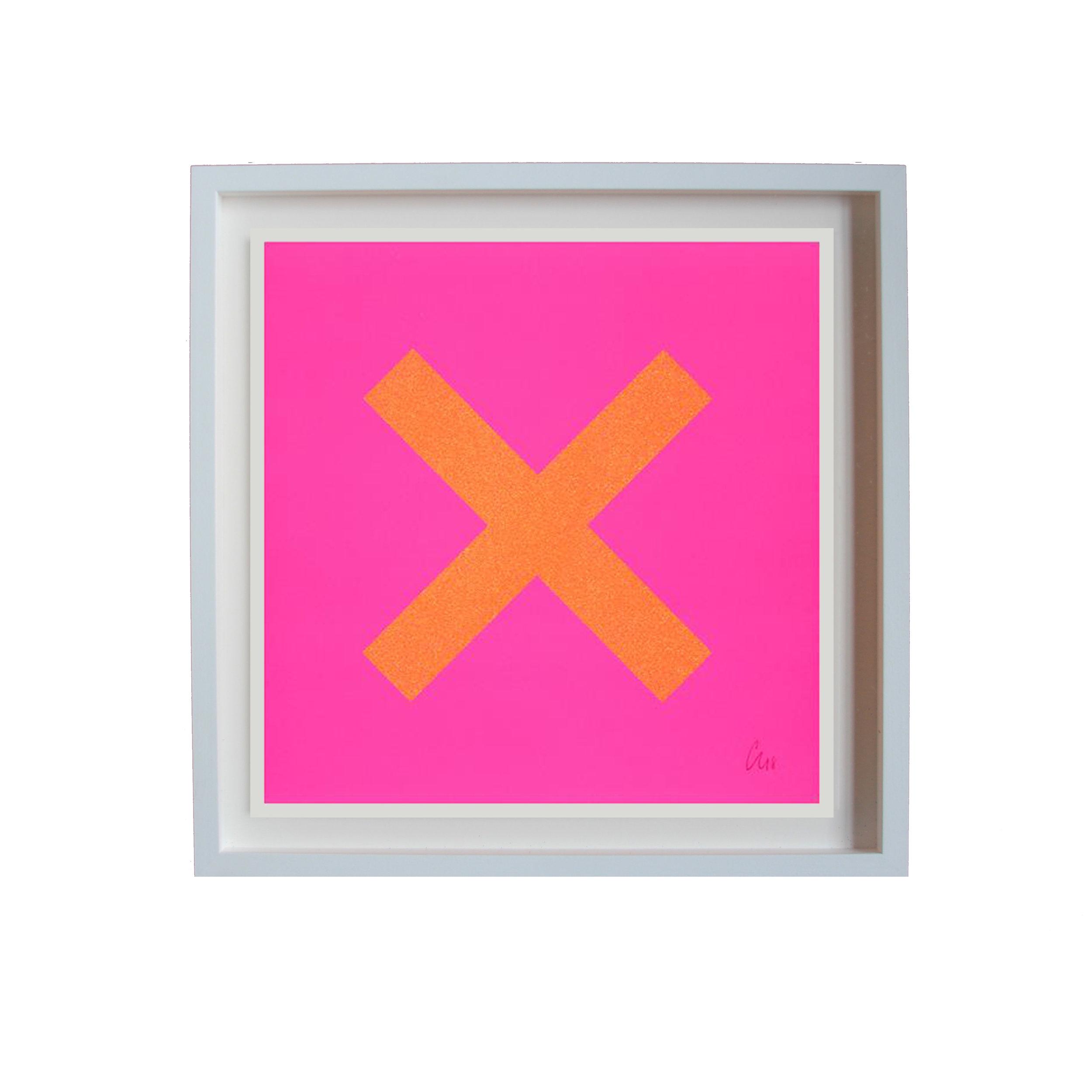 Chris Levine - X Marks the Spot (Pink & Orange)