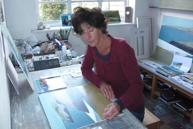 Vanessa in her studio, courtesy of the artist