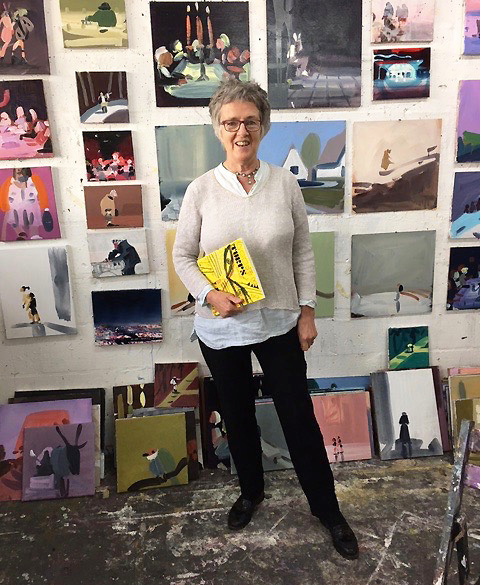 Susie in her studio, courtesy of the artist