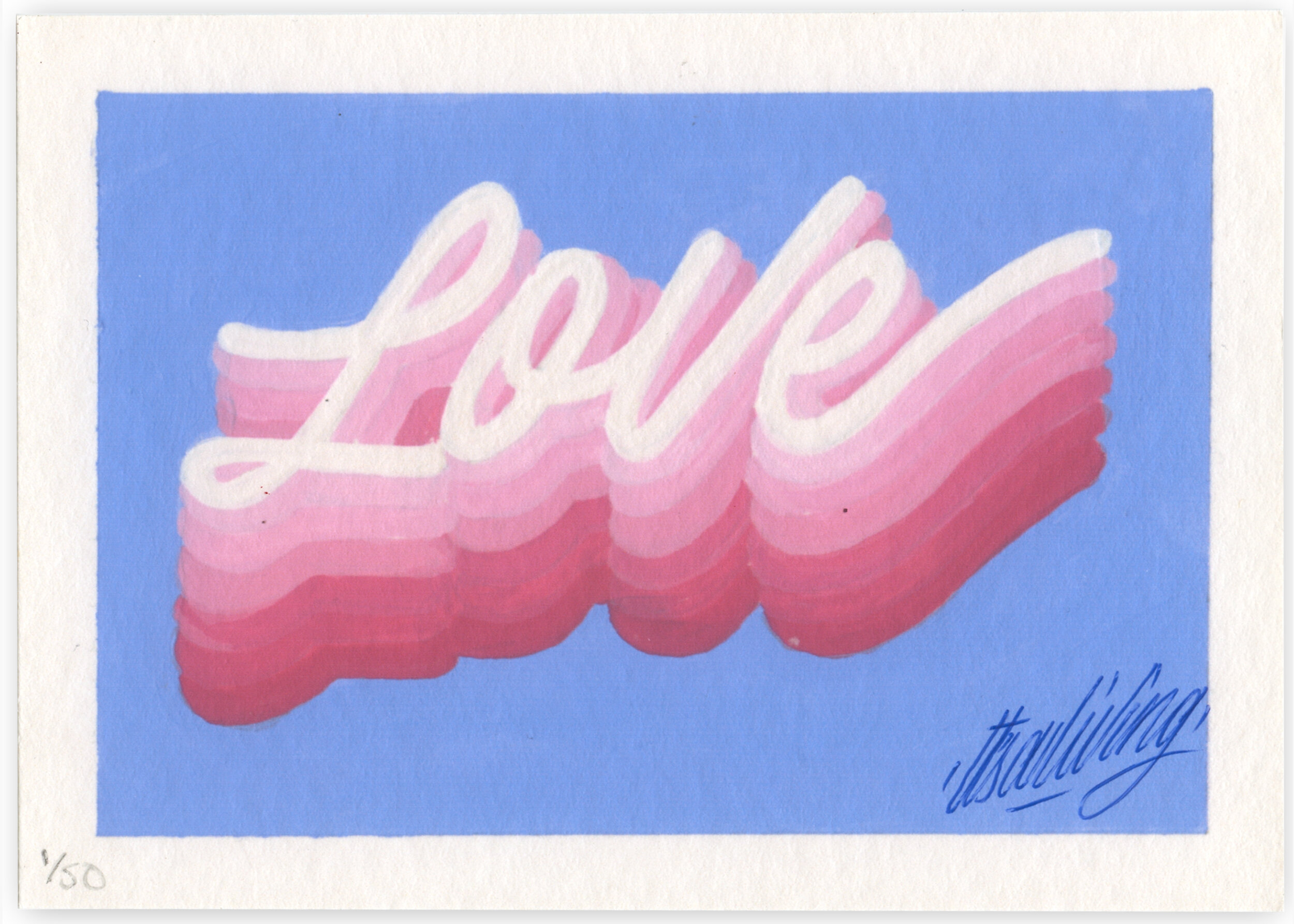LOVE  by It's A Living    Fine Art Giclée print on Hahnemühle Bamboo    Limited Edition of 50