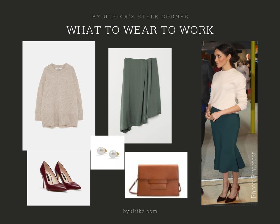 Photos: Zara (pumps), H&M (knitwear & skirt), Gant (bag)