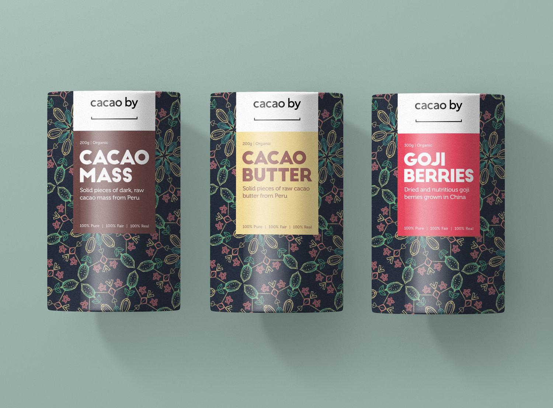 CACAO BY - Som avgangsprosjekt på studiet for visuell kommunikasjon, skulle det arbeides med et reelt designoppdrag for en virksomhet