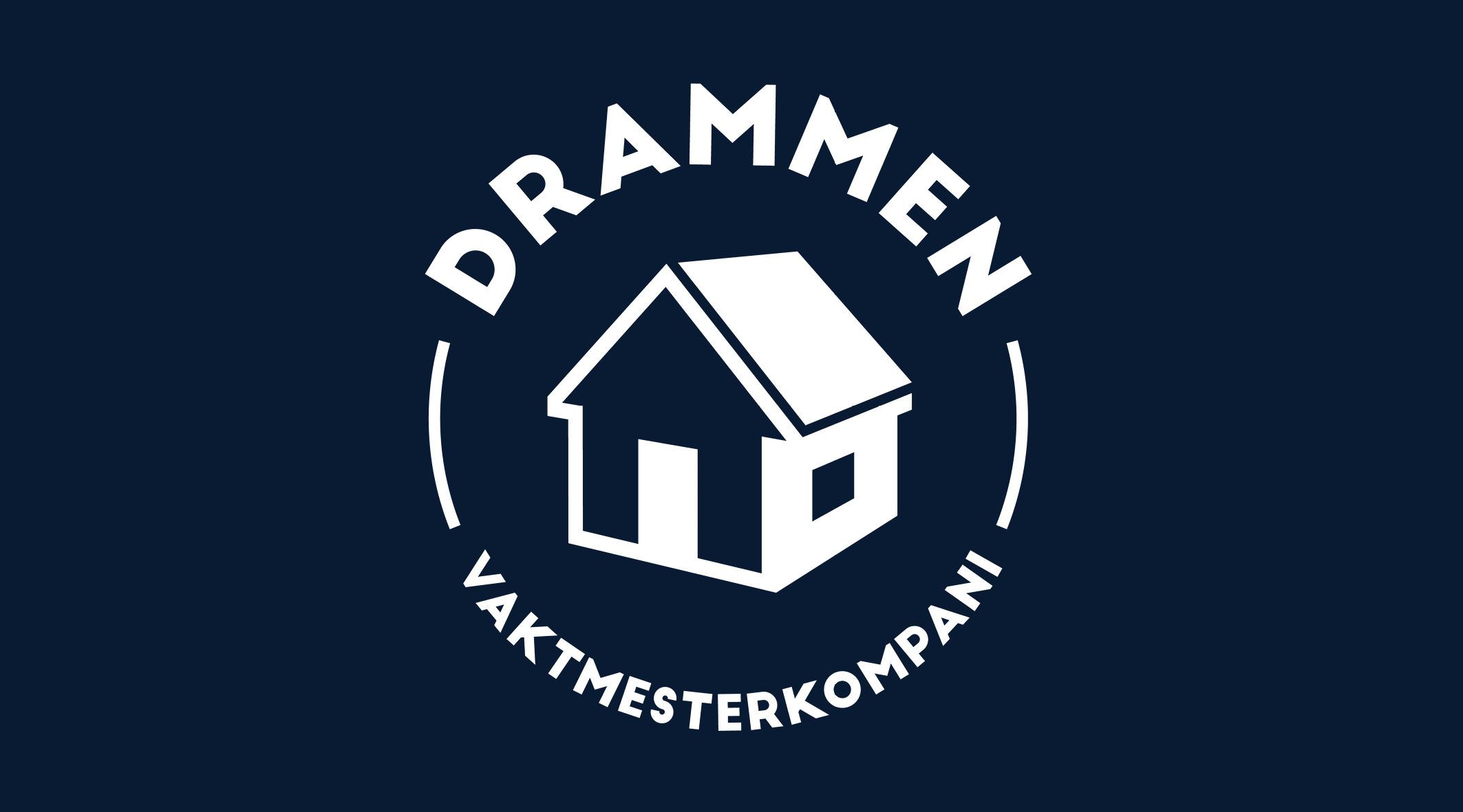 DRAMMEN VAKTMESTERKOMPANI - Logo og nettside for lokalt vaktmesterfirma
