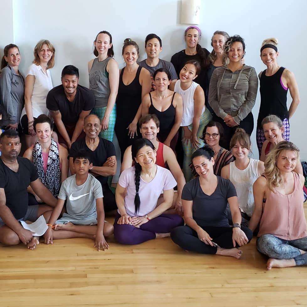 Ashtanga Yoga as a Therapeutic & Life-long Journey with Manju Jois at Chicago Yoga Center, in June 2019.