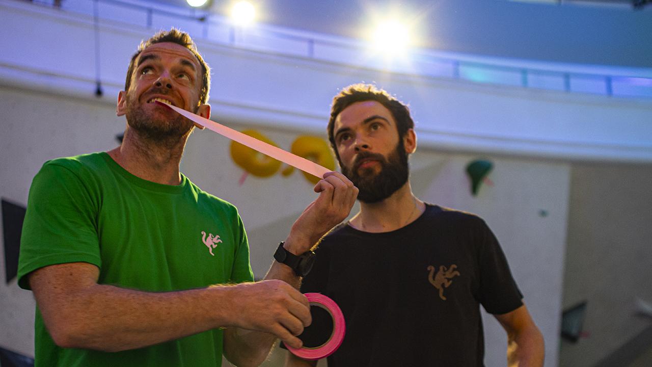 Scott and Matt discuss tape placement (Photo: The Arch)