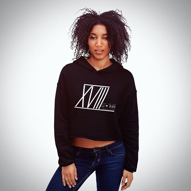 New cozy crop top hoodies with fleece material are out now! #jjmiami