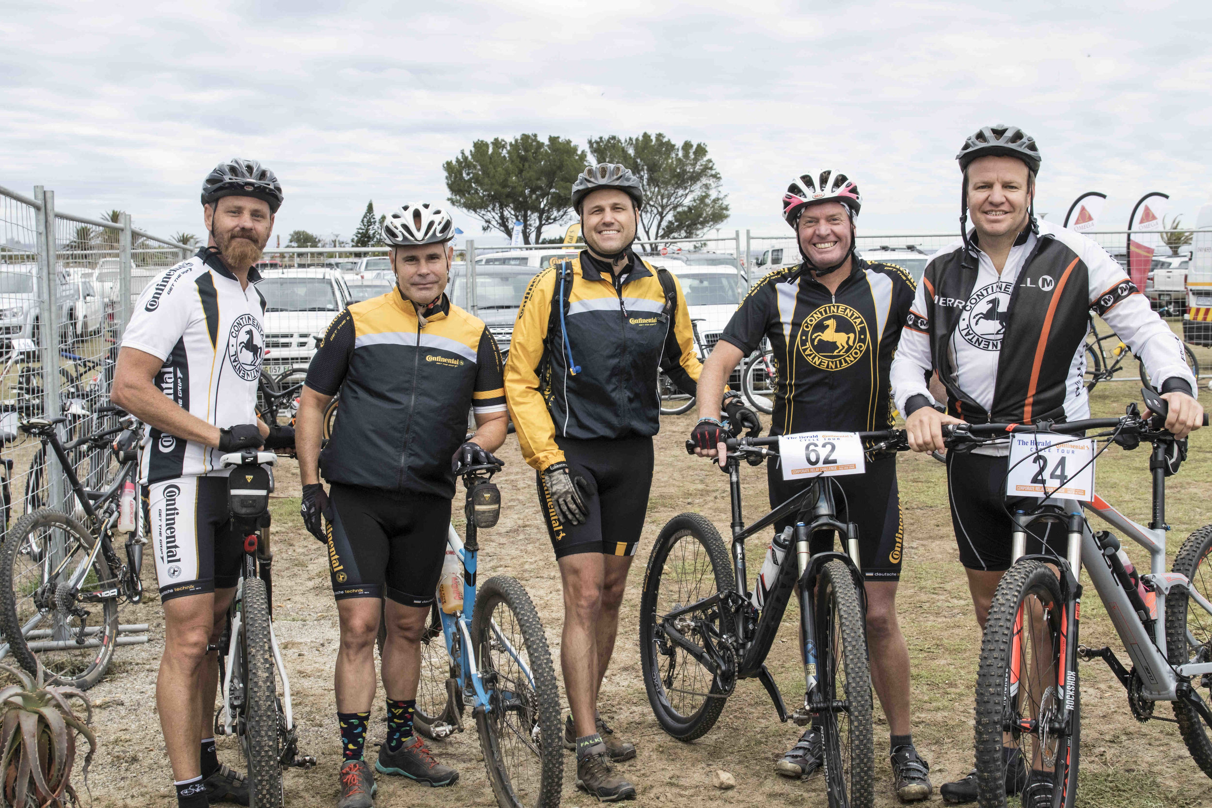 Showcasing a competitive edge at this year's Team Relay Challenge were Continental Tyre SA team riders from left Anton Verwey; Ian Langlands; Austin Brett; Trevor Gascoyne; Clint Henderson. Continental Tyre SA look forward battling it out at the 3rd edition of the Team Relay race next year.