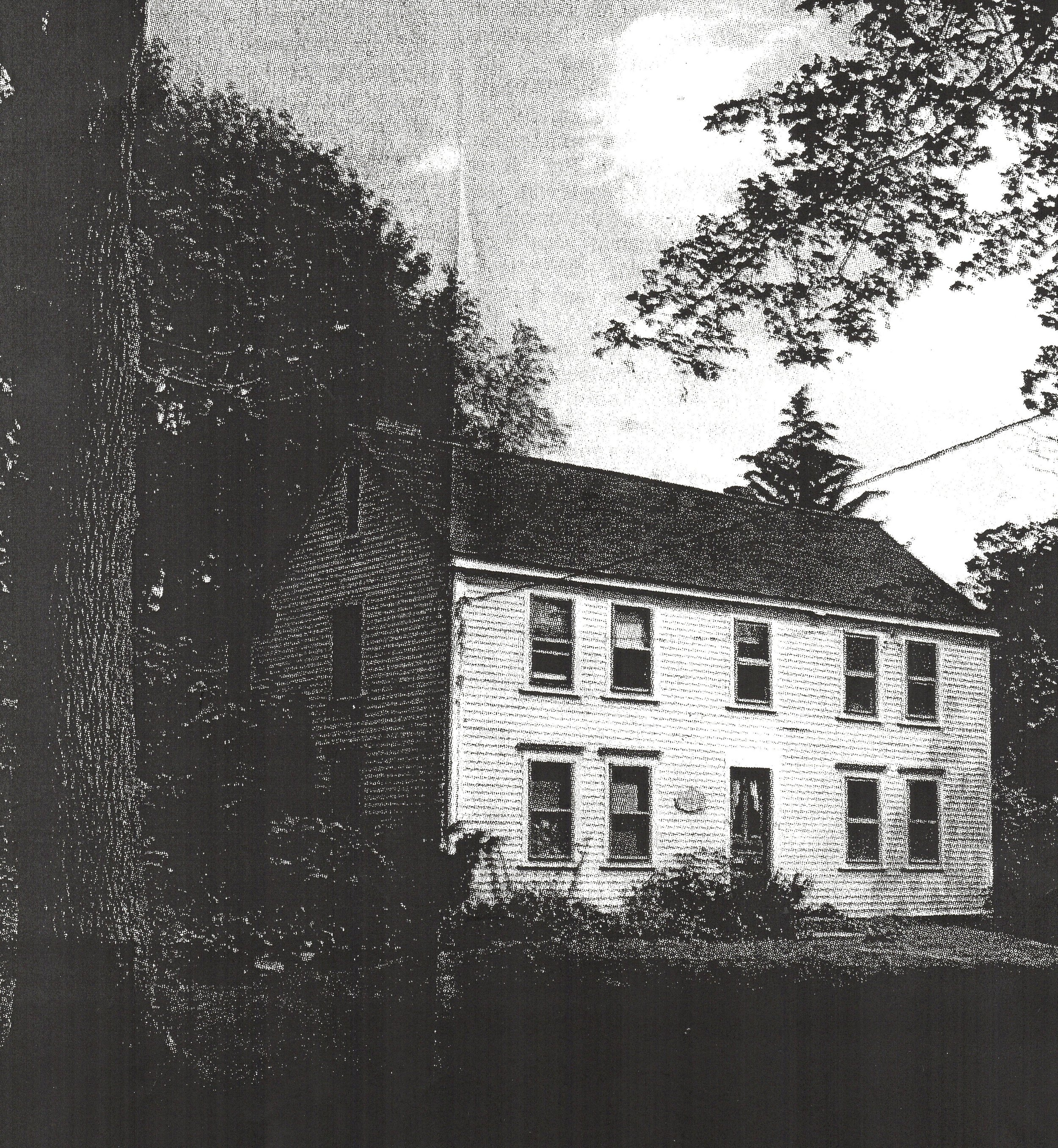 The Peletiah Morse Tavern (built 1748) on Eliot Street, where the South Natick militia gathered.