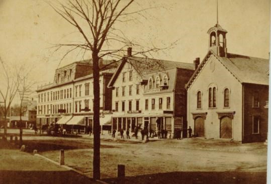 Main Street in Natick before the Great Fire of 1874