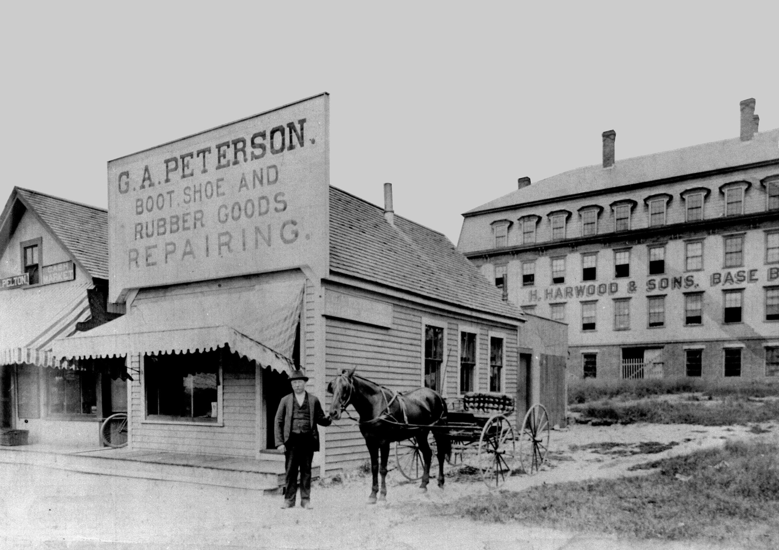 G. A. Peterson repair shop north of Natick's town center.