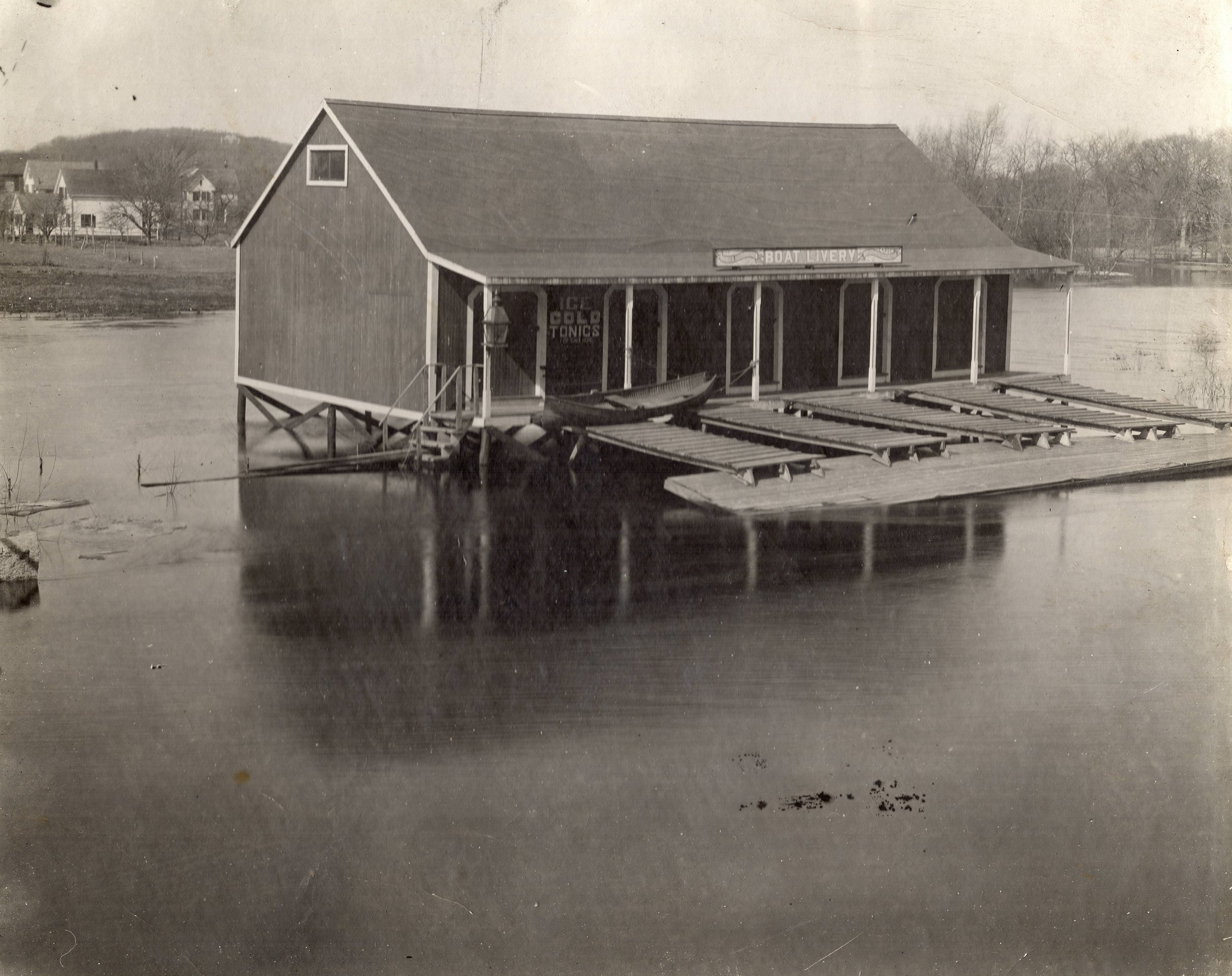 Flood damage at Heinlein Boat and Canoe Livery
