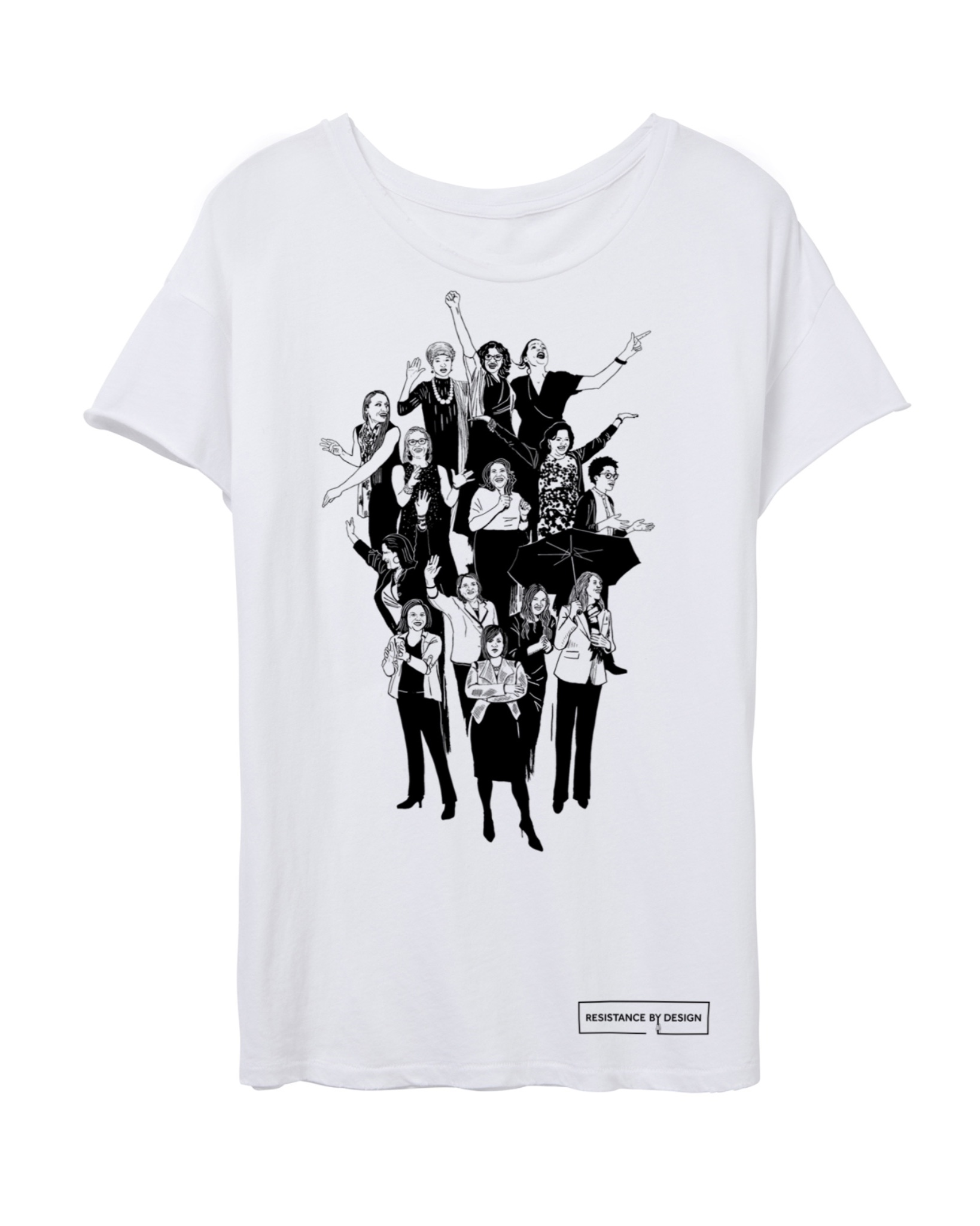 The POWERHOUSE tee celebrates the long awaited firsts of 116th Congress- first Native Americans congresswomen, first muslim American congresswomen, and more.
