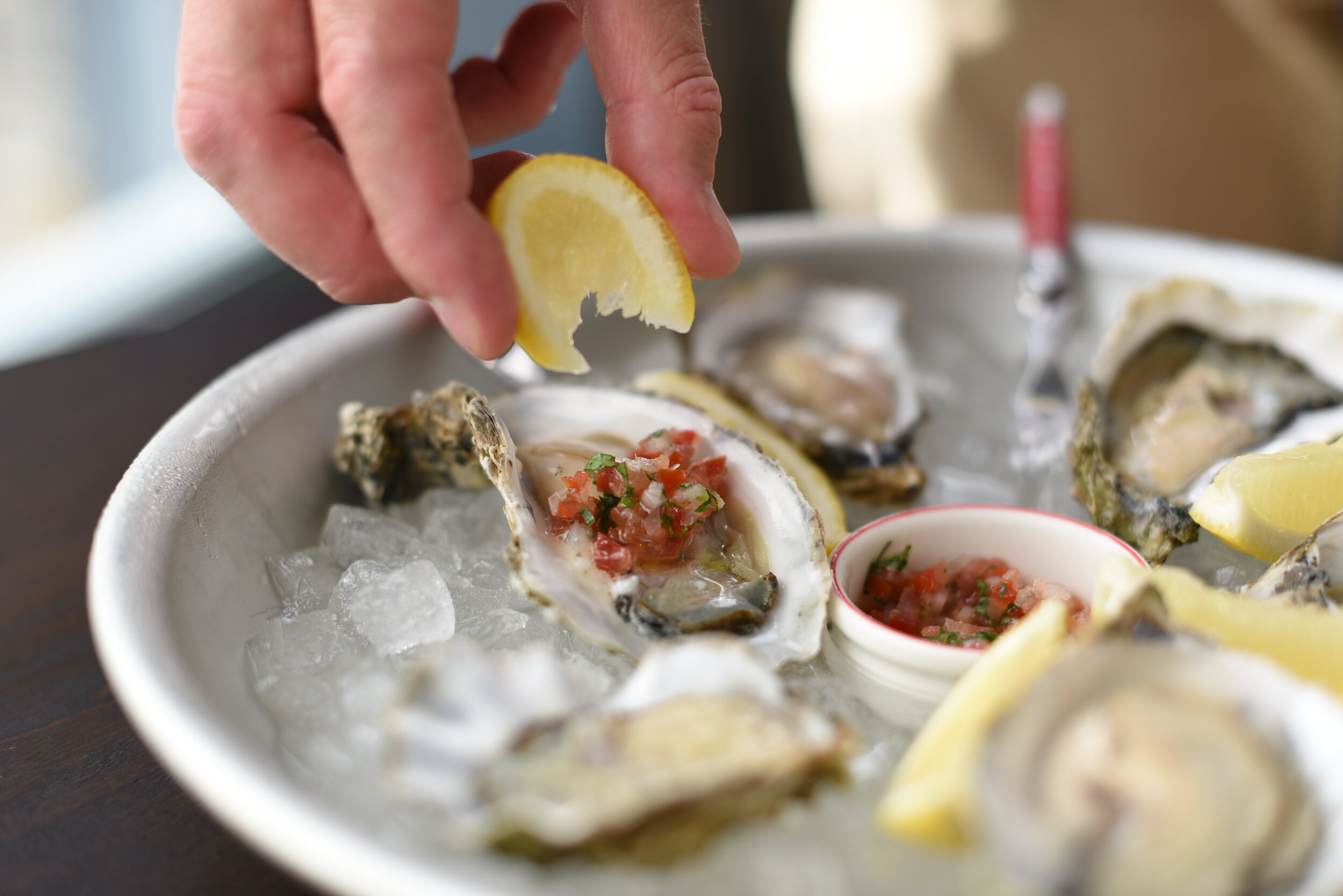 OYSTER HAPPY HOUR EVERY WEEKDAY FROM 4-6PM - £1 each with purchase of a glass or bottle of wine! As our American counterparts say